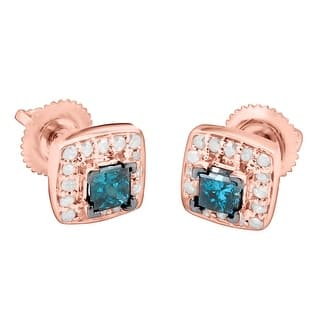 Prism Jewel 0 69ct G H I1 Princess Cut Blue Diamond And Side Back