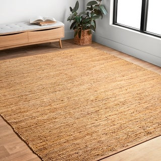 Link to Alexander Home Farmhouse Jute and Leather Hand -woven Area Rug Similar Items in Farmhouse Rugs