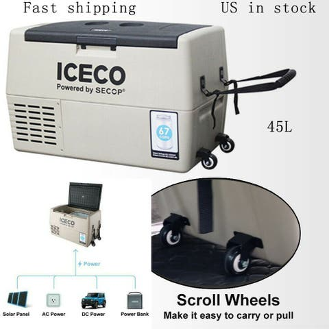 ICECO Portable Refrigerator Freezer Car Fridge Cooler TR45 45L