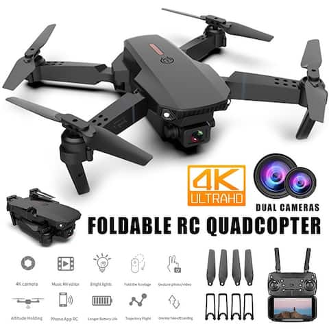 4Kpro Drone WIFI FPV Foldable RC Quadcopter Remote Controller 6 Axis Gyroscope One-Key Return