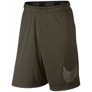 Nike NEW Green Mens Size 2XL Dry Training Elastic-Waist Logo Shorts