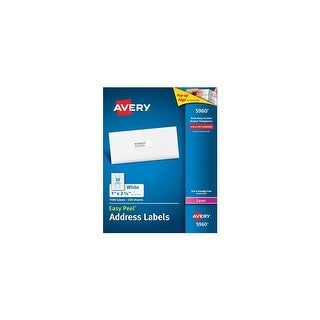 "Avery 5960 Easy Peel Mailing Address Labels w/ Lable Size: 1"" x 2-5/8"" & 7500 Total Labels"