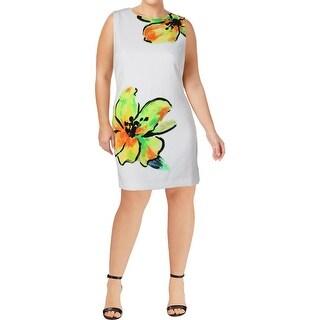 Lauren Ralph Lauren Womens Wear to Work Dress Floral Print Sleeveless