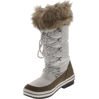 Reneeze Pammy-04 Women's Lace Up Waterproof Quilted Mid Calf Winter Snow Boots