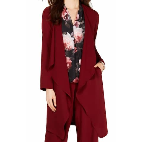 Nine West Women's Sweater Porto Red Size Large L Cardigan Cascade