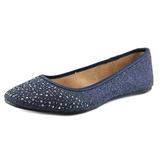 Style & Co Angelynn Women Round Toe Canvas Blue Flats