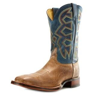 Nocona Zulu Men Square Toe Leather Tan Western Boot