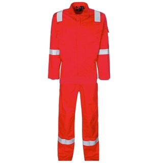 Walls Fr-Industries Mens Red Reflector Coveralls For Work Wear 40 Regular
