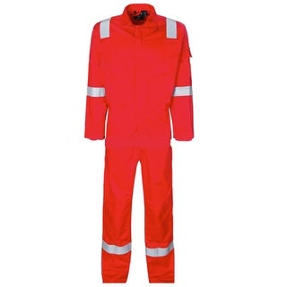 Walls Fr-Industries Mens Red Reflector Coveralls For Work Wear 58 Regular