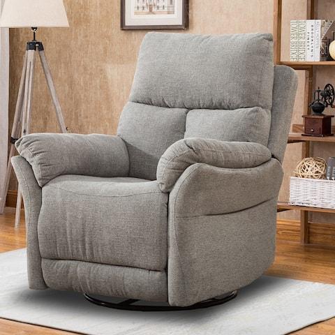 Ebello-Swivel Rocker Fabric Recliner Chair