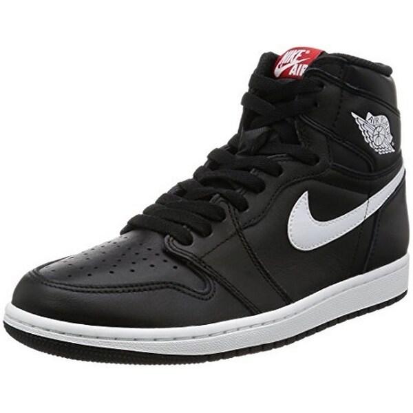 Nike Mens Air Jordan 1 Retro High OG, Black/White-Black, 10.5