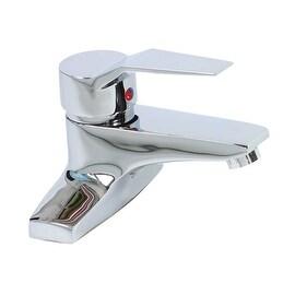 "Bathroom Faucet Chrome Plated Centerset 4 3/16""H 1 Handle"