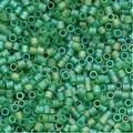 Miyuki Delica Seed Beads 15/0 Matte Light Green AB DBS858 4 GR - Thumbnail 0