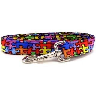 Autism Awareness Rainbow Puzzle Dog Leash