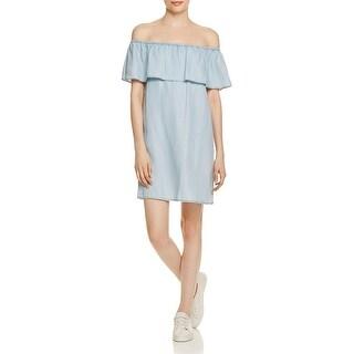 BB Dakota Womens Casual Dress Off-The-Shoulder Ruffled - xs