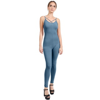 NE PEOPLE Womens Cross Strap Sleeveless Sexy Bodycon Jumpsuits-NEWJS07 (More options available)