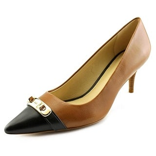 Coach Gloria Women  Pointed Toe Leather Brown Heels