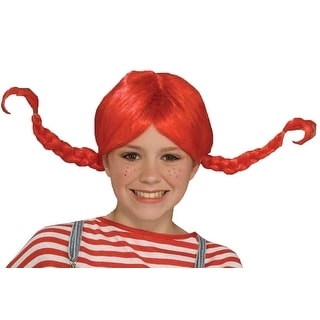 Pippi Longstocking Red Costume Wig