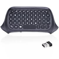 APGtek  2.4G Mini Wireless Chatpad Message Keyboard for Xbox One Controller-Black