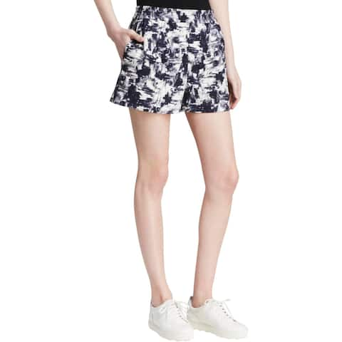 Essentials by Milano Womens Casual Shorts Stretch Pattern - Multi - 34