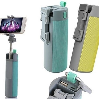 4-in-1 Wireless Selfie Stick, Bluetooth Speaker, Phone Mount and Power Bank