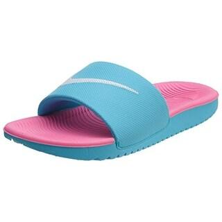 Nike Kids' Kawa Slide Sandal (3 M Us Little Kid, Gamma Blue/White/Pink Blast)