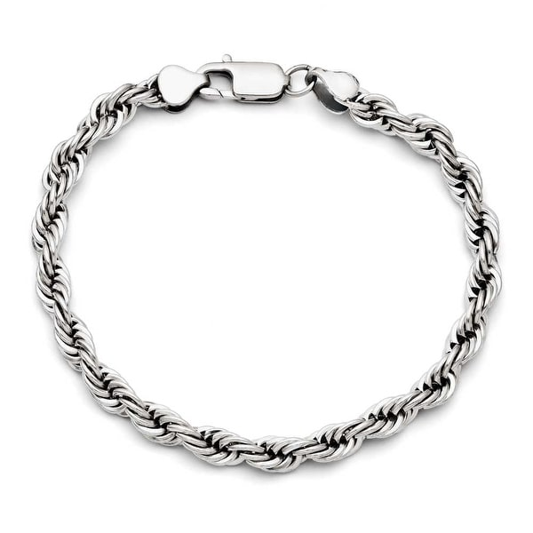 Chisel Stainless Steel Polished 6mm Rope Bracelet