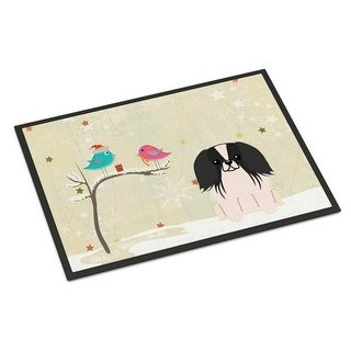 Carolines Treasures BB2577MAT Christmas Presents Between Friends Pekingnese Black White Indoor or Outdoor Mat 18 x 0.25 x 27 in.