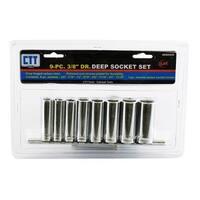 "9-pc. 3/8"" Drive Deep SAE Socket Set"