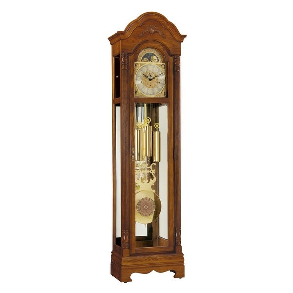 Ridgeway Kingsley Traditional, Elegant, Antique Design, Grandfather Style Chiming Floor Clock with Pendulum and Movements. Opens flyout.