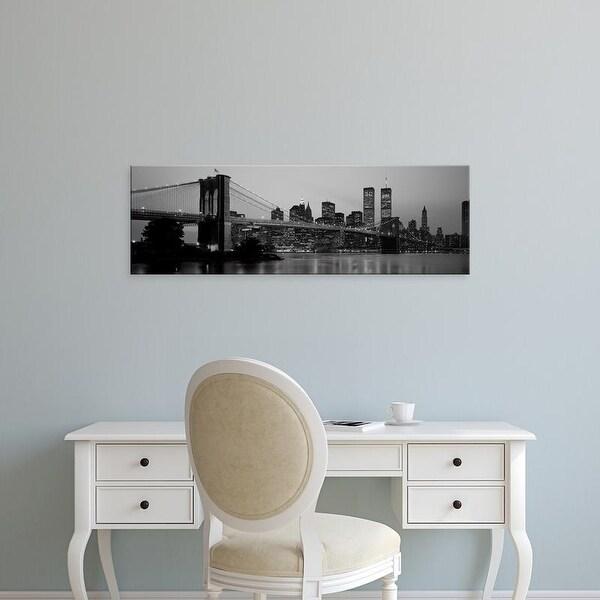 Easy Art Prints Panoramic Images's 'Brooklyn Bridge, Manhattan, NYC, New York City, New York State, USA' Canvas Art
