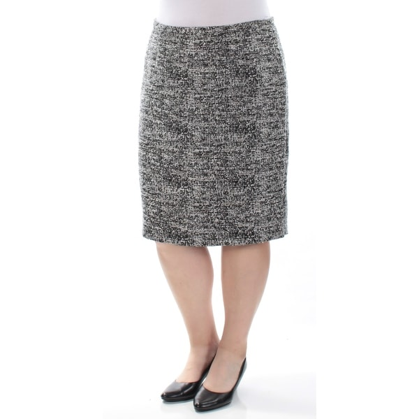 0894012ecd39 Shop TOMMY HILFIGER Womens Black Knee Length Pencil Wear To Work Skirt  Size: 16 - On Sale - Free Shipping On Orders Over $45 - Overstock - 21300246