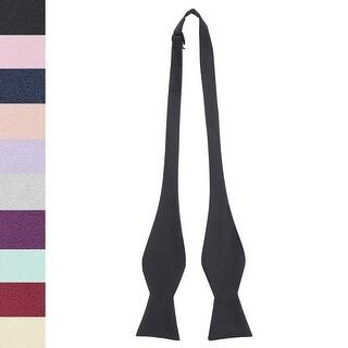 Jacob Alexander Men's Tone on Tone Metallic Self-Tie Bow Tie - One size