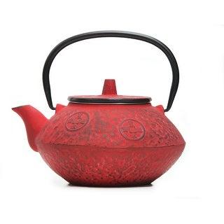 GURO Cast Iron 27 Ounces / 0.8L Red Japanese Teapot - Sigma