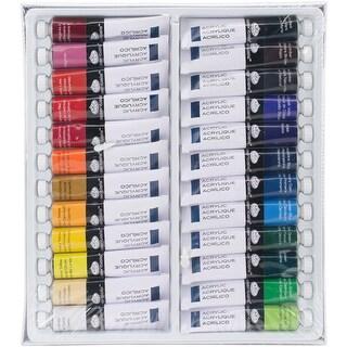 Acrylic Paints 21Ml 24/Pkg-Assorted Colors