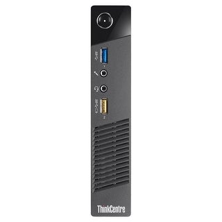 Lenovo ThinkCentre M73 Desktop Tiny Intel Core I3 4130T 2.9G 4GB DDR3 250G Windows 7 Pro 1 Year Warranty (Refurbished) - Black