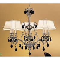 """Classic Lighting 57364-AGP 30"""" Crystal Chandelier from the Majestic Collection"""