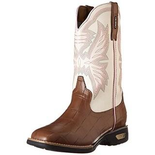 Cinch Girls Alexis Embossed Crocodile Print Cowboy, Western Boots - 3 medium (b,m)
