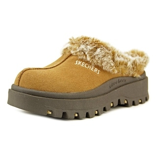 Skechers Shindigs-Fortress Round Toe Suede Clogs
