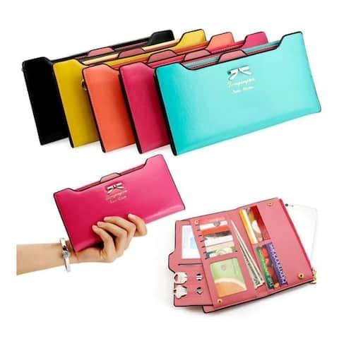 High Quality Fashion Lady Women Leather Clutch Wallet Long Card Holder Case Purse Handbag