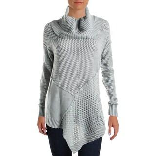Love Scarlett Womens Pullover Sweater Asymmetric Cowl Neck