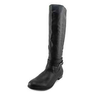 Style & Co Fridaa Wide Calf Round Toe Synthetic Knee High Boot