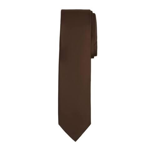 Jacob Alexander Boy's Regular Self Tie Prep Solid Color Necktie