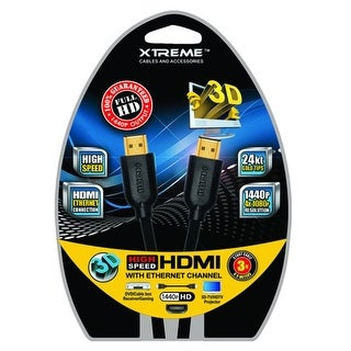 12ft High Speed Mesh HDMI 2.0 Cable Blck