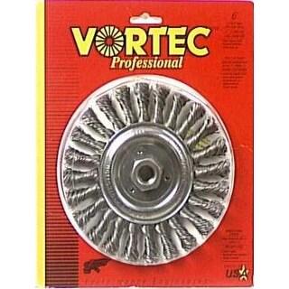 """Weiler 36024 """"Vortec-Pro"""" Standard Twist Knot - Wire Wheel Brush 6"""""""
