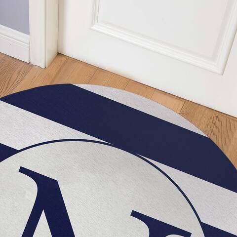 MONO NAVY STRIPED N Indoor Floor Mat By Kavka Designs