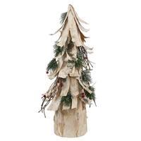 "20"" Birch Bark Cone Tree Berry Pine"