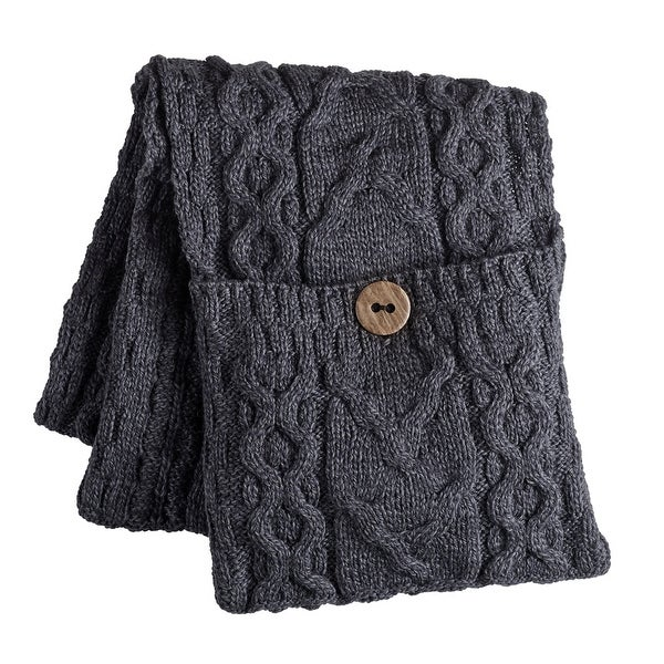 Shop Womens Galway Bay Cable Knit Wool Pocket Scarf One Size On