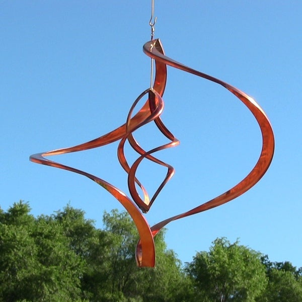 Sunnydaze Orbiter Copper Wind Spinner