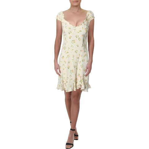 Free People Womens Like A Lady Mini Dress Sleeveless Printed